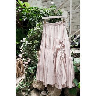 Herlipto Asymmetric Tiered Cotton Skirt