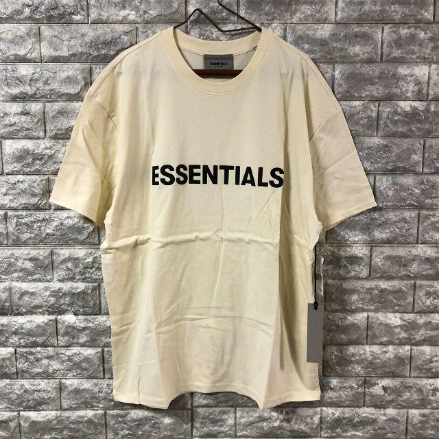 FEAR OF GOD(フィアオブゴッド)の2020新作 フェアオブゴッド エッセンシャルズ Mサイズ LOGO Tシャツ メンズのトップス(Tシャツ/カットソー(半袖/袖なし))の商品写真