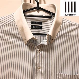 スーツカンパニー(THE SUIT COMPANY)のスーツセレクト ストライプのクレリックシャツLサイズ❗️ クールビズに最適⭐️(シャツ)