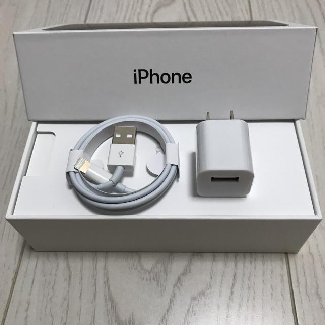 Apple(アップル)のApple iPhoneライトニング アダプターセット スマホ/家電/カメラのスマートフォン/携帯電話(バッテリー/充電器)の商品写真
