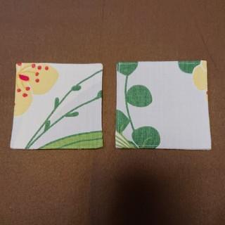 マリメッコ(marimekko)のコースター2枚セット マリメッコ葉っぱ柄(キッチン小物)