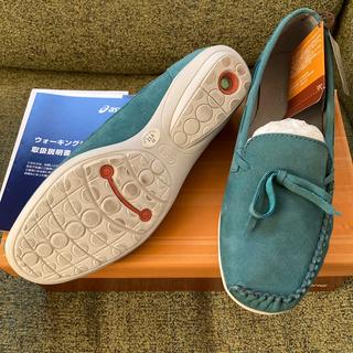アシックス(asics)の新品 asics ペダラ ウォーキングシューズ 23㎝(ローファー/革靴)