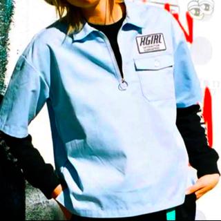 エックスガール(X-girl)の数回のみ ワークシャツ(シャツ/ブラウス(半袖/袖なし))