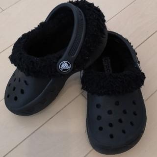 crocs - 078 クロックス サンダル ブラック ボア 8C9 16.0cm