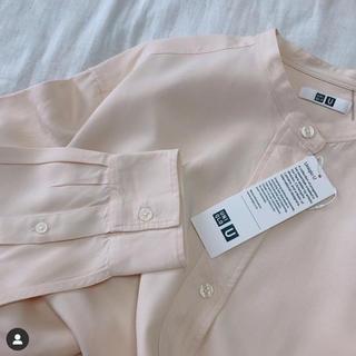UNIQLO - ユニクロユー ドレープツイルスタンドカラーシャツ