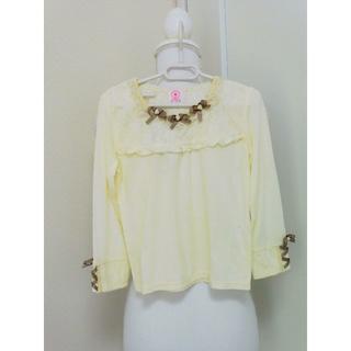 アクシーズファム(axes femme)のy61❤axes femme KIDS 編み上げリボンプルオーバー M 新品❤(Tシャツ/カットソー)