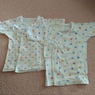 ミキハウス(mikihouse)の新生児肌着 短肌着2枚 ミキハウス 赤ちゃんの城 50〜60(肌着/下着)