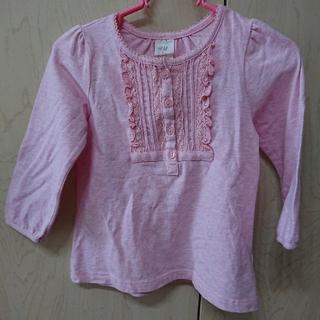 エイチアンドエム(H&M)のH&M、ロンT、ピンク(Tシャツ)
