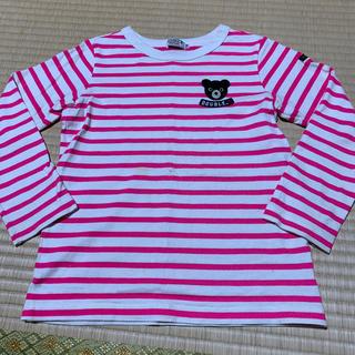 DOUBLE.B - ミキハウス ダブルB ピンク ボーダーTシャツ 120