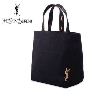 Yves Saint Laurent Beaute - YSL ブラック キャンバス トートバッグ