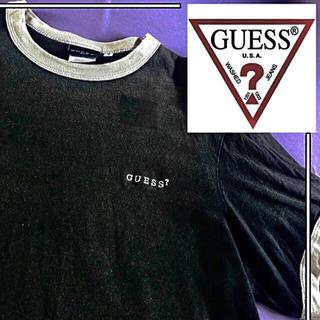 GUESS - 【 USA 製 】guess t-shirts オーバーサイズ ワンポイント