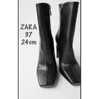 ZARA - 【新品・未使用】ZARA アニマル柄 ハイヒール ブーツ 24cm