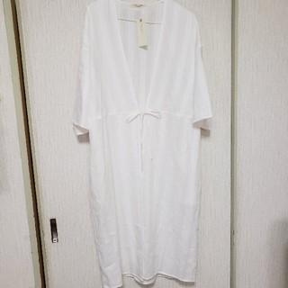 ショコラフィネローブ(chocol raffine robe)の羽織シャツワンピース(ロングワンピース/マキシワンピース)
