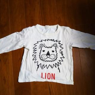 ムージョンジョン ロンT 100センチ 白 ライオン柄 男の子