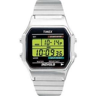 タイメックス(TIMEX)の【新品箱付】 タイメックス クラシックデジタル シルバー supreme (腕時計(デジタル))
