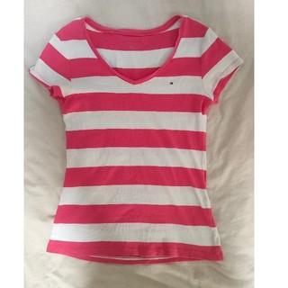 トミーヒルフィガー(TOMMY HILFIGER)のTOMMY HILFIGER Tシャツ レディース ピンク(Tシャツ(半袖/袖なし))