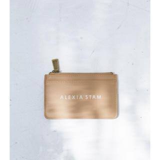 アリシアスタン(ALEXIA STAM)のALEXIA STAM  Logo Card Case Camel(財布)