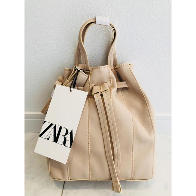 ZARA(ザラ)のZARA ミニシーム バケットバッグ ミニバッグ ショルダーバッグ バケツバッグ レディースのバッグ(ショルダーバッグ)の商品写真