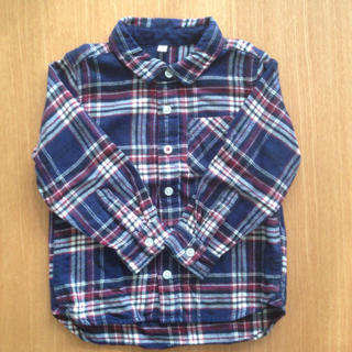 ムジルシリョウヒン(MUJI (無印良品))の無印良品 キッズ フランネル チェックシャツ 100(ブラウス)