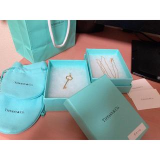 Tiffany & Co. - ティファニー キー チャーム ネックレス K18