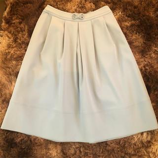トゥービーシック(TO BE CHIC)の新品 TO BE CHIC スカート ブルー(ひざ丈スカート)