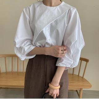 カスタネ(Kastane)の【新品未使用タグ付き】amiur asymmetry volume blouse(シャツ/ブラウス(長袖/七分))