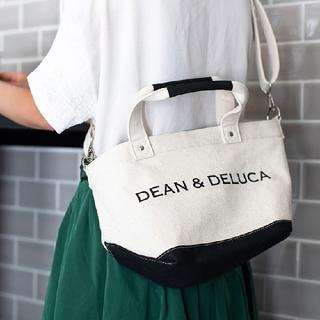 DEAN & DELUCA - 新品DEAN&DELUCAショルダートートバッグ  2wayキャンパス 白 黒
