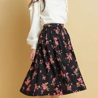 トランテアンソンドゥモード(31 Sons de mode)の花柄プリントロングスカート(ひざ丈スカート)