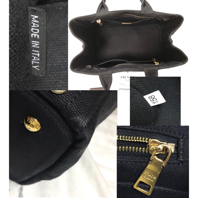PRADA(プラダ)のPRADA/カナパ/ビジュー/ブラック レディースのバッグ(ハンドバッグ)の商品写真