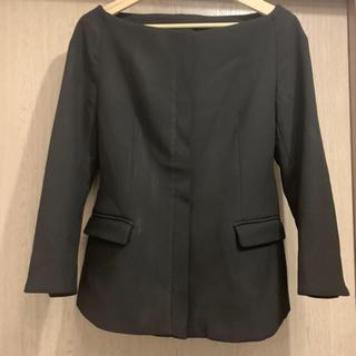 ZARA - 新品 ザラ ノーカラージャケット Lサイズ