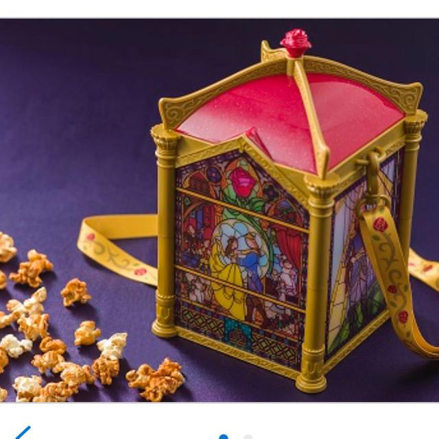 Disney(ディズニー)のディズニー 美女と野獣ポップコーンバケット エンタメ/ホビーのおもちゃ/ぬいぐるみ(キャラクターグッズ)の商品写真