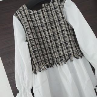 しまむら - 新品 ツィードドッキングシャツ