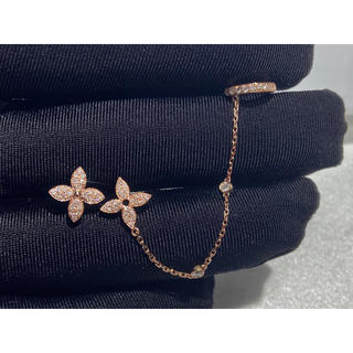 ダイヤモンド カフチェーン ピアス K18 新品