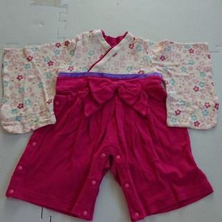 ベルメゾン(ベルメゾン)のベルメゾン 袴ロンパース 70cm(和服/着物)