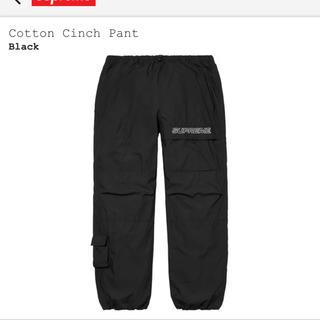 Supreme - supreme cotton cinch pant Black Lサイズ