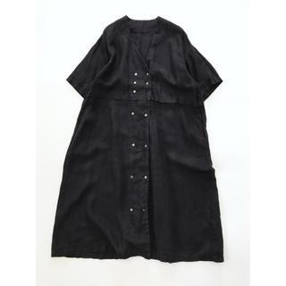 nest Robe - nest robe(ネストローブ)| リネンダブルブレスト切替ワンピース