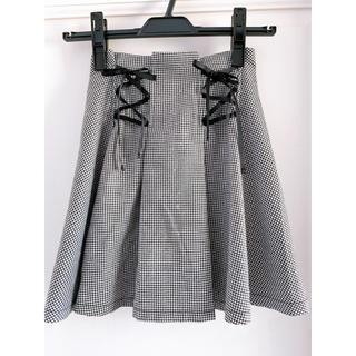 レピピアルマリオ(repipi armario)のレピピアルマリオ 編み上げチェックスカート xs(スカート)
