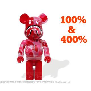 アベイシングエイプ(A BATHING APE)のBE@RBRICK CLEAR CAMO SHARK 100% & 400% (その他)