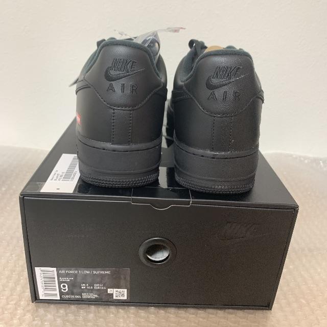 Supreme(シュプリーム)の27cm シュプリーム ナイキ エアフォース1 ロウ 黒 メンズの靴/シューズ(スニーカー)の商品写真