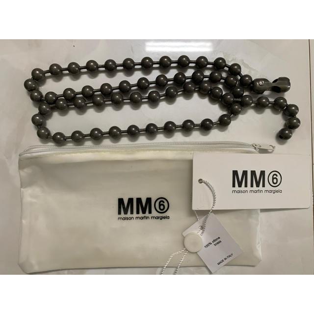 Maison Martin Margiela(マルタンマルジェラ)のmaison margiela MM6 ボールチェーンネックレス グレー レディースのアクセサリー(ネックレス)の商品写真