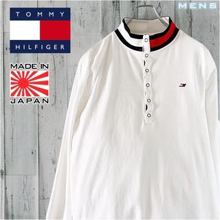 トミーヒルフィガー(TOMMY HILFIGER)のTOMMY HILFIGER SPORT モックネック ロゴ 長袖 Tシャツ L(Tシャツ/カットソー(七分/長袖))
