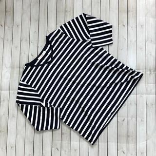 ショコラフィネローブ(chocol raffine robe)のショコラフィネローブ ボーダーTシャツ 七分袖 Fサイズ(カットソー(長袖/七分))
