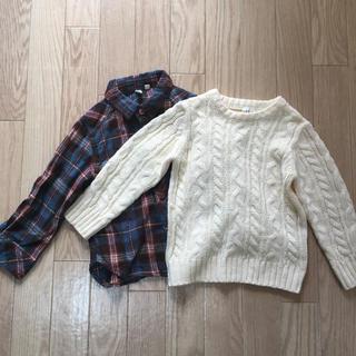 サマンサモスモス(SM2)の【100cm】SM2   2枚セット 冬物(ニット)