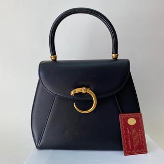 カルティエ(Cartier)のカルティエ  パンテール ハンドバッグ 黒(ハンドバッグ)