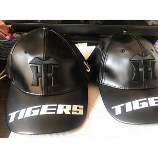ハンシンタイガース(阪神タイガース)の阪神タイガース 黒キャップ 非売品(応援グッズ)
