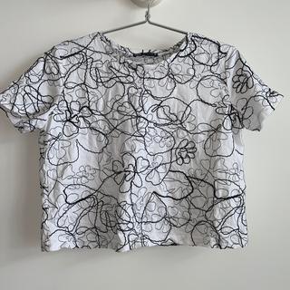ZARA - ZARA 刺繍 Tシャツ