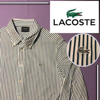 LACOSTE - 【夏セール 6/25まで】 lacoste l/s ストライプシャツ