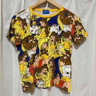 Disney - ディズニー総柄Tシャツ(美女と野獣)