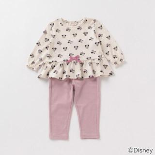 プティマイン(petit main)の【新品未使用】disney ミニーマウス 総柄Tシャツ×パンツパジャマセット(パジャマ)