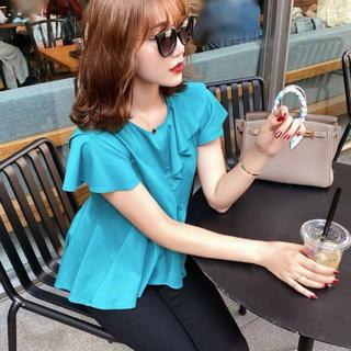 エイミーイストワール(eimy istoire)のコットンフリルTシャツ シェリエ(Tシャツ/カットソー(半袖/袖なし))